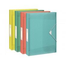 Cartella portaprogetti Esselte Maxi Colour'Ice polipropilene goffrato ordinata A4 dorso 40mm - 626266