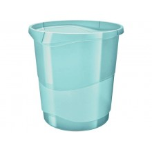 Cestino gettacarte Esselte Colour'Ice polistirene blu trasparente 14 litri 626289