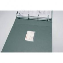 Tasche adesive portabiglietti Q-Connect ppl 60x95 mm trasparente apertura lato lungo  conf. da 10 - KF27039