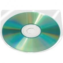 Custodia autoadesiva per CD/DVD Q-Connect 12,6x12,6 cm trasparente Conf. 100 pezzi - KF27031