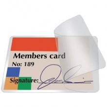 Pouches per plastificazione a freddo Q-Connect per carte d'identità f.to 8.6x5.6 cm Conf. 10 pezzi - KF27056