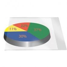 Etichette adesive permanenti Q-Connect A4 trasparenti conf. da 5 - KF27053