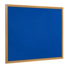 Bacheche Bi-office Earth feltro blu 90x60 cm - cornice executive in legno blu - FB0743239