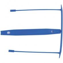 Clip fermafogli Q-Connect blu passo 8 cm conf. 100 pezzi - KF02282