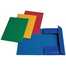 Cartellina a 3 lembi Esselte C46 con elastico tondo 25x35 cm 550 g/m² blu 390346050 (Conf.5)