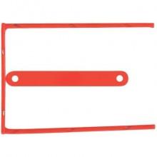 Clip fermafogli Q-Connect rosso passo 8 cm conf. 100 pezzi - KF02281