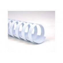 Dorsi plastici a 21 anelli GBC CombBind 8 mm a4 bianco conf da 100 dorsi - 4028194