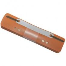 Pressini fermafogli adesivi Q-Connect 34x150 mm arancio conf. da 25 - 2012500610 (Conf.2)
