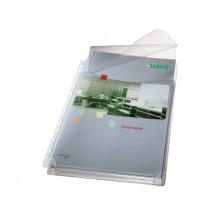 Buste a soffietto con lembo di chiusura Leitz in PVC A4 trasparente confezione da 5 pezzi - 47573003