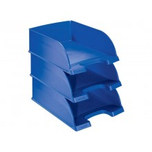 Vaschetta portacorrispondenza impilabile Leitz PLUS JUMBO in polistirolo A4 blu 52330035 (Conf.4)