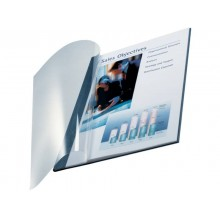 Copertina flessibile max 10-35 fogli Leitz impressBIND in PPL con dorso da 3,5 mm A4 blu  conf. da 10 - 73980035