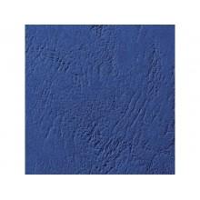 Copertine per rilegatura GBC Leathergrain cartoncino goffr. A4 blu scuro conf da 100 copertine - CE040029