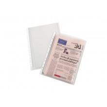 Buste a perforazione con soffietto alta capacità ELBA A4 21x29,7 cm trasparente buccia d'arancia conf. da 10 - 100080753