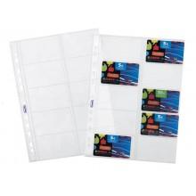 Buste a foratura universale Favorit porta cards liscia superior 8,5x5,4 cm (x10 tasche) conf. da 10 - 100460075