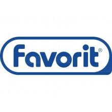 Cartelline a 3 lembi con elastico FAVORIT Matrix 24x33 cm grigio 400101762