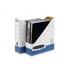 Scatola archivio FELLOWES Bankers Box® System 8x31,6x26,3 cm blu/bianco portariviste A4 - 0026301 (Conf.10)