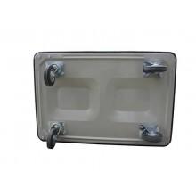 Carrello in metallo con maniglia pieghevole Viso 910x600x870 nero RMC910