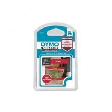 Nastro per etichettatrici Dymo D1 Durable 12 mm x 3 m bianco/rosso 1978366