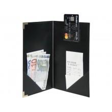 Portaconto Securit® Classic in similpelle 12x23 cm nero MC-CRBP-BL