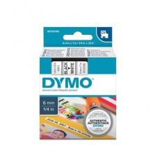 Nastro per etichettatrici Dymo D1 6 mm x 7 m nero/bianco S0720780