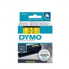 Nastro per etichettatrici Dymo D1 9 mm x 7 m nero/giallo S0720730