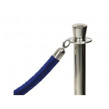 Cordone in velluto Securit® con finiture in cromo 1,5 m blu RS-CLRP-CHBU