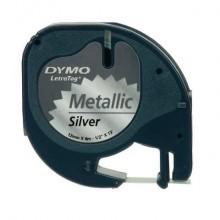 Nastro per etichettatrici Dymo LT metallico 12 mm x 4 m nero/argento S0721730