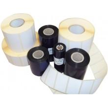 Kit 3936 etichette TTR + ribbon - 100x74 mm ETIFORM in carta vellum Etichette bianche- K100X074X150R4