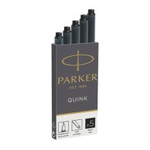 Cartucce inchiostro per stilografica Parker Quink nero F confezione da 5 - 1950382