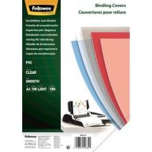 Copertine per rilegatrici FELLOWES Clear PVC A4 180my conf.100 pz - 5375901