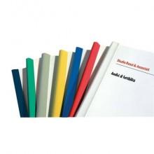 Dorsi plastici FELLOWES per rilegatura senza macchine 29,7cm diam.4mm rosso conf.50 - D104RO