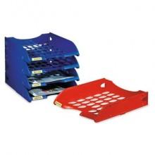 Vaschetta portacorrispondenza FELLOWES Modula polistirolo azzurro E040AZ