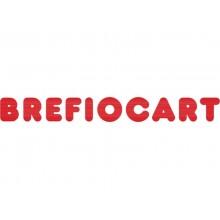 Cartella a 3 lembi con elastico piatto BREFIOCART NEW COLOR 25x35 cm dorso 10 cm rosso - 0221301.RO