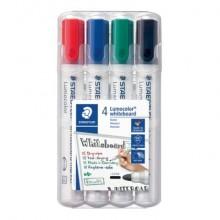 Marcatore per lavagne bianche Staedtler Lumocolor whiteboard marker 351 assortiti  astuccio da 4 pezzi - 351 WP4