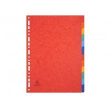 Intercalari in carta Exacompta NATURE FUTURE assortiti carta lustré A4 225 g/m² 12 tasti - 1412E