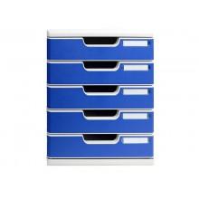 Cassettiera Exacompta grigio/blu  301003D