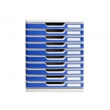 Cassettiera Exacompta grigio/blu  302003D