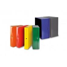 Portaprogetti con bottone EURO-CART presspan monolucido 25x35 cm dorso 2 cm rosso  CP02RO