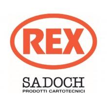 Sacchetti da regalo Rex-Sadoch Allegra tinta unita Dark 26x12x36 cm rosso conf. da 25 - SDF26-551