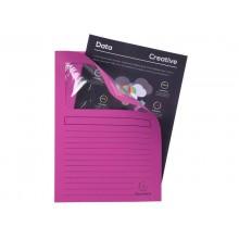 Cartelline con finestra Exacompta Forever® A4 cartoncino 120 g/m² fucsia conf. da 100 - 50108E