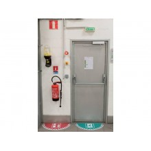 Adesivi Segnalatori CEP rischio elettrico PVC 700x350 mm. sp 0,2 mm verde - 1701020031
