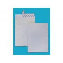 Buste a sacco con strip e 3 soffietti Tyvek Postyvek 55 g/m² bianco 30,5x40,6 cm - conf. 100 pezzi - 0759