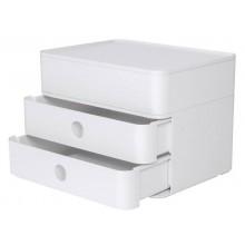 Cassettiera da scrivania HAN Smart-Box Plus Allison 260x195x190 mm 2 cassetti + scatola portautensili bianco - 1100-12