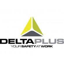 Guanto da lavoro Delta Plus in maglia di poliestere e palmo in nitrile nero-grigio taglia 8 - VE712GR08