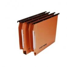 Cartelle sospese laterali per armadi CARTESIO 33 cm fondo U 3 cm arancio Conf. 50 pezzi - 114 F BETA 3 - B2