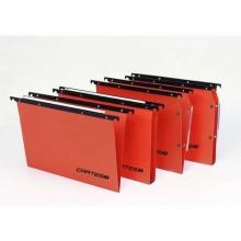 Cartelle sospese orizzontali per cassetti CARTESIO PLUS 33 cm fondo U3 cm arancio Cf. 25 pz - 300/330 Link 3 -A2