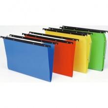 Cartelle sospese orizzontali per cassetti CARTESIO PP 39 cm fondo a U 3 cm blu Conf. 25 pezzi - 500/395 3 -A3