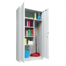 Armadio porta scope KUBO 2 ante 90x41x181,5 cm grigio PS /90
