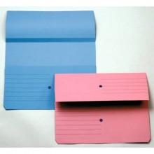 Cartelline con tasca 4Mat A4 in carta woodstock 225 g/m² dorso 3 cm blu conf. da 10 pezzi - 3240 01