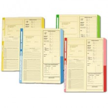 Cartelline a 2 lembi 4Pro A4 in carta di cellulosa 225 g/m² dorso 2 cm rosso conf. da 50 pezzi - 4175 04